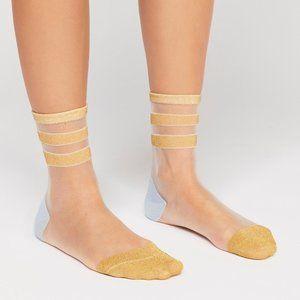 Gold Dust Sheer Socks
